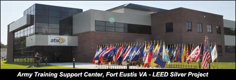 LEED Silver Electrical Contracting Project - Army Training Center - Fort Eustis VA